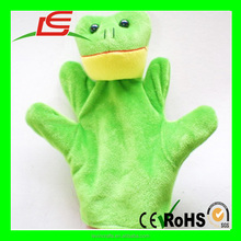 Custom Soft Plush Frog Hand Puppet With Cheap Price
