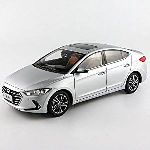 Silver 1/18 Hyundai New Elantra Avante Lingdong 2016 Sedan Alloy Model Car Toy Miniatures Luxury Collection Gifts Diecast Vehicle
