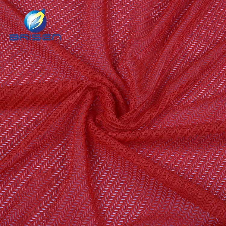 China wholesale red tricot knit 90 polyester 10 spandex fabrics