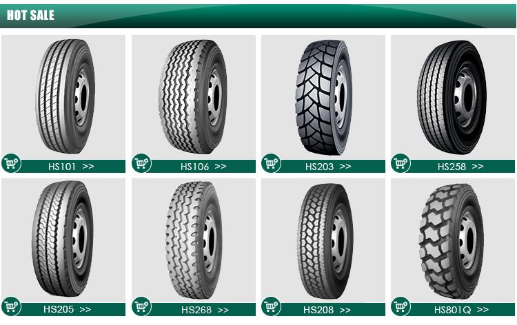 Kapsen bande Grand bloc nouveaux pneus de camion 11R24. 5 11R22. 5 pour le marché Américain