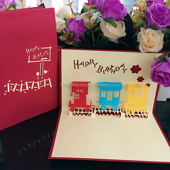 Lovely Mini Size 3d Pop Up Birthday Greeting Cards For Kids Buy 3d