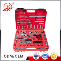 China supplier in stock RSD11120 CR-V steel 121 pcs metric car repair tools ratchet wrench combination socket set