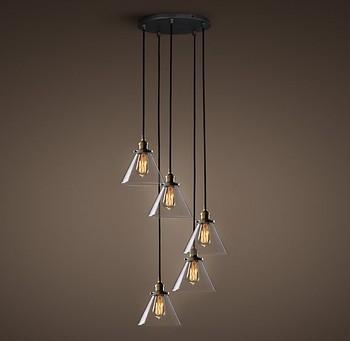 glass drop light fixture hanging pendant cone glass drop lights bar hanging dining room modern chandelier