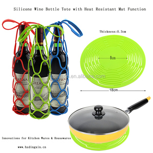 Eco-Friendly Silicone Innovation Mat Silicone Collapsible Picnic Basket