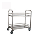 2 Tiers Guard Bar Handles Design Stainless Steel Hotel Restaurant Kitchen Delivery Dinning Mobile Food Carts Service Trolleys