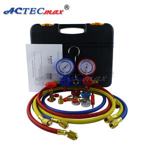 Wholesale refrigeration ac digital r134a manifold gauges set With Release  Valve