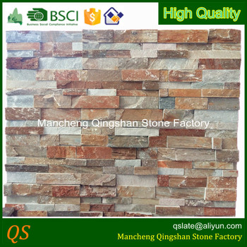 natural slate decorative stone wall panels for fireplace