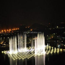 Outdoor original design led light music lake fountain show with digital swing