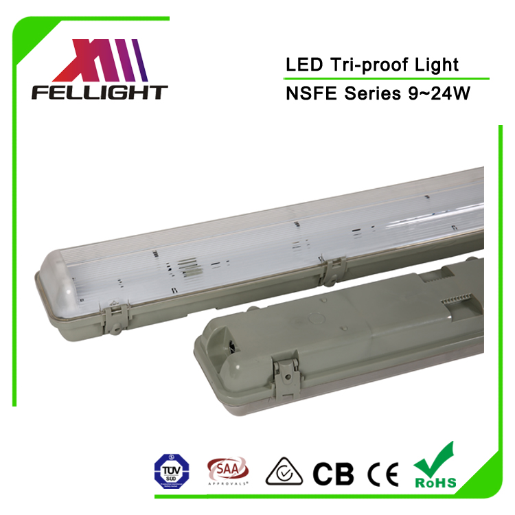 Waterproof PC Housing 2X36W Fluorescent Replacement LED T8 Lighting Fixture IP65