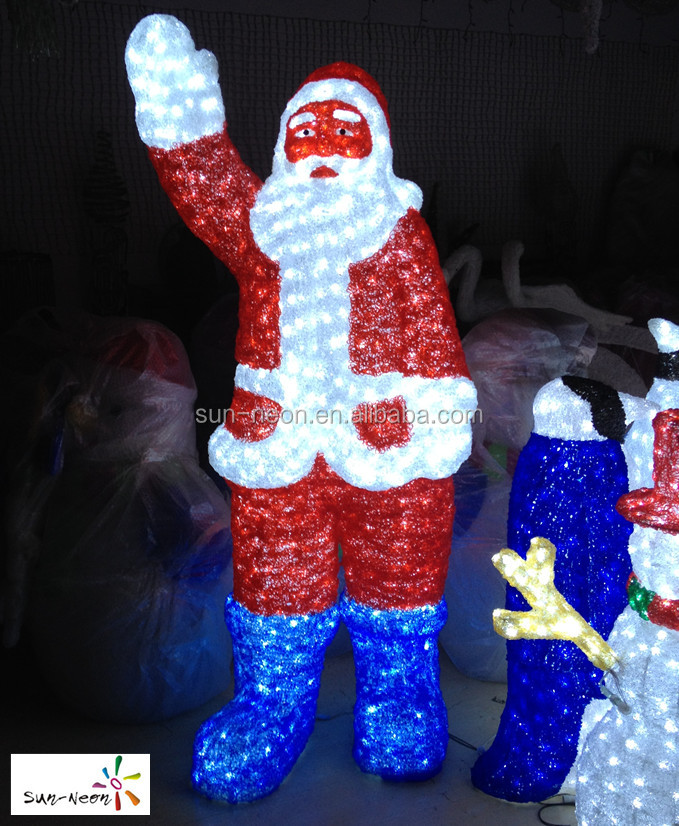 lighted santa claus outdoor christmas decorations lighted santa - Lighted Christmas Decorations