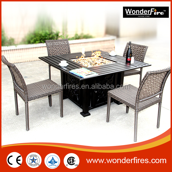 Outdoor Fire Pit Patio Flame Table Coffee Furniture Propane Natural Gas