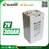 Bluesun deep cycle agm vrla 2v 300ah battery with ISO CE ROHS Certificate