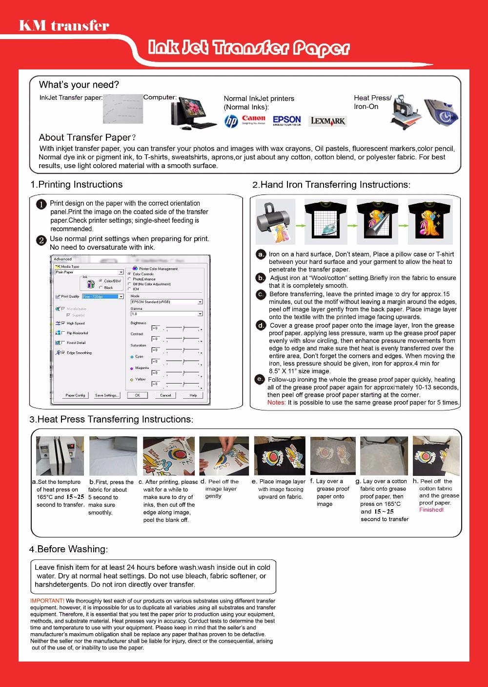 T-shirt Transfer Paper in UAE