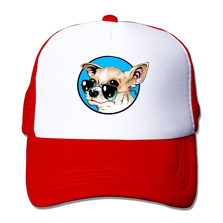 Crazy Popo Outdoor Sports Hat - French Bulldog Adjustable Trucker Hat Cap Adult Unisex Baseball Hat