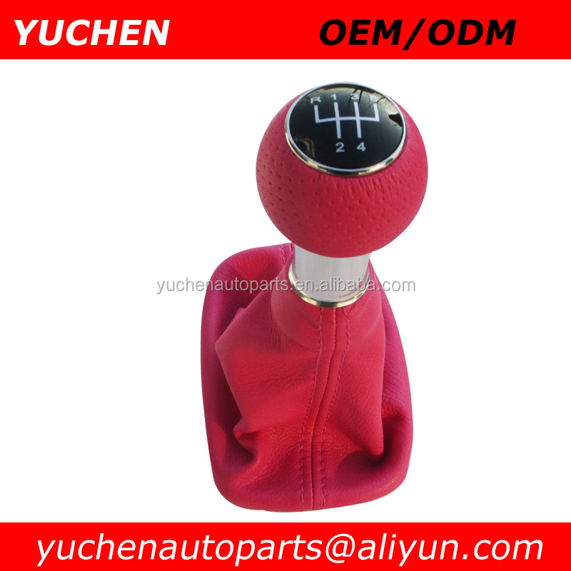 Wholesale High Performance YUCHEN Car Pink Gear Shift Knob 12mm and 22mm For Audi A3 8L S3