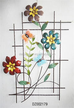3D Metal Flower Wall Decor