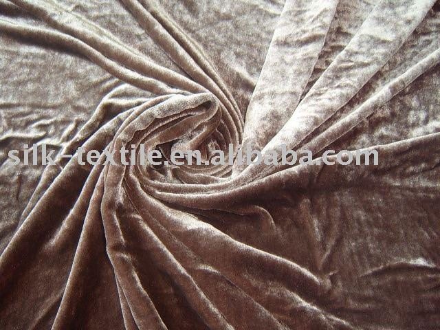 Crushed Washed Silk Velvet Fabric - Buy Silk Velvet,Washed Silk ...