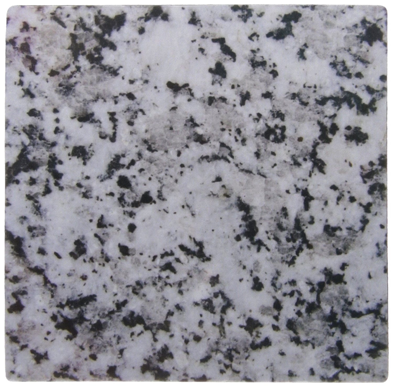 3dRose LLC 8 x 8 x 0.25 Inches Mouse Pad, Print of Grey Granite Rock Texture Photo Graphic, Gray/Black Crystals, Polished Igneous Stone Geology (mp_157792_1)