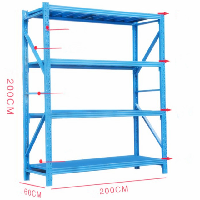 Boltless double rivet warehouse shelving light duty <strong>rack</strong>
