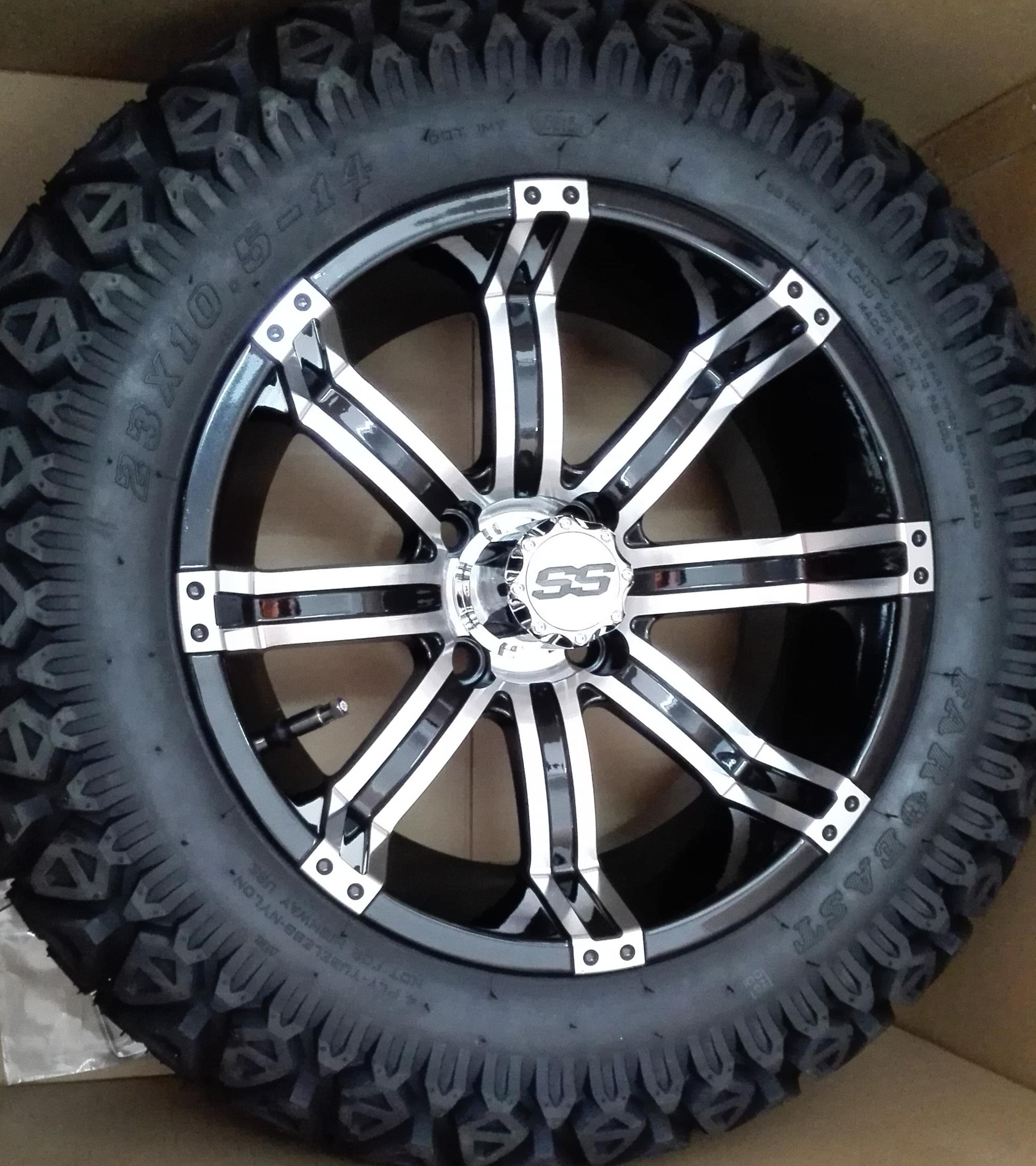 14 Golf Cart Tires Rims Combo Tempest Aluminum Wheel With 23 10 5 14 Rugged Tire Wholesale Buy Golf Cart Tires Golf Cart Rims 23 10 5 14 Rugged Tire Product On Alibaba Com
