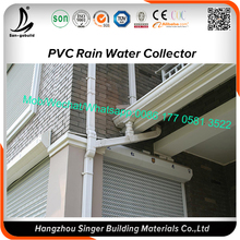 White 5.2inch Pvc Gutter Building Materials Supply For Roof System