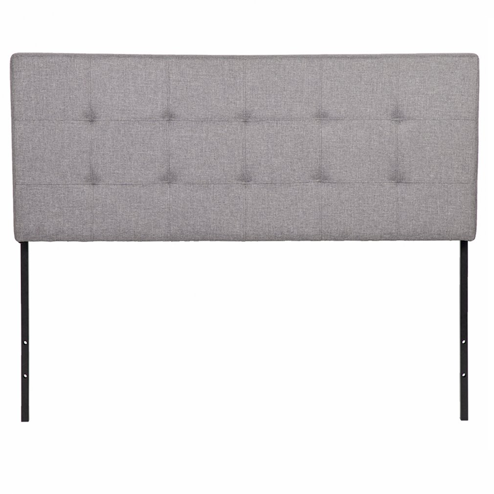 Headboard Fabric Modern Tufted Lily Upholstered for Queen Size