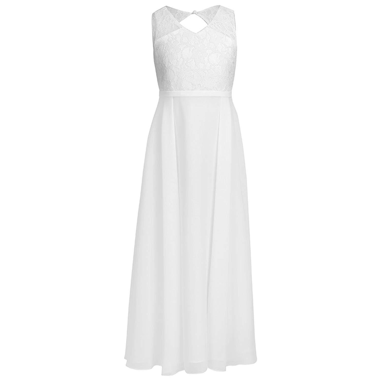 18bee5f9c468 YiZYiF Kids Big Girls Lace Chiffon Bridesmaid Flower Girl Dance Party Maxi  Dress