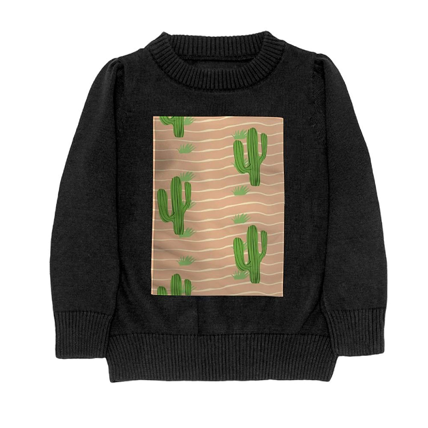 a29e9a5d7700d3 Get Quotations · Hailin Tattoo Girls Cool Fit Knit Sweater Pullover Digital  Printing Green Cactus Patterns Crewneck Adult Sweater