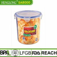 PP large plastic airtight food storage container/rectangular lunch box with lid/preservation box