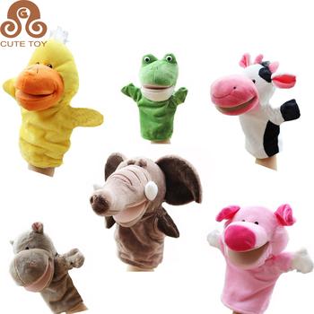 Plush Lion/tiger/deer/monkey/embroidery/elephant/frog/ Duck/hippopotamus  Hand Puppet Toy - Buy  Donkey/tortoise/rhinoceros,Crocodile/leopard/dog/cow,Ze