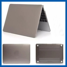C&T Gray rubberized hard plastic case for macbook air 12 transparent clear case cover