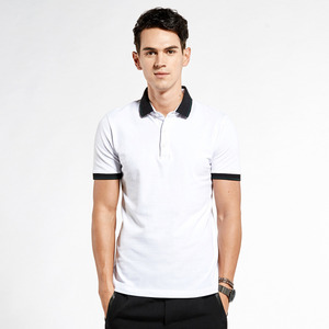 bangladesh wholesale clothing two color collar for men 100% cotton design blank polo shirts