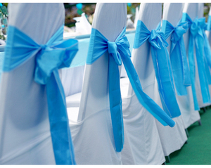Customized Voile Flower Chair Sash