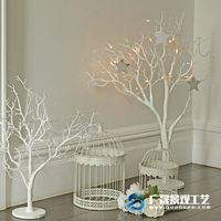 Artificial white dry tree branches decorative coral tree for outdoor indoor decor