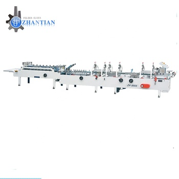 Manufacturing process box folding and gluing machine corrugated carton box folding machine