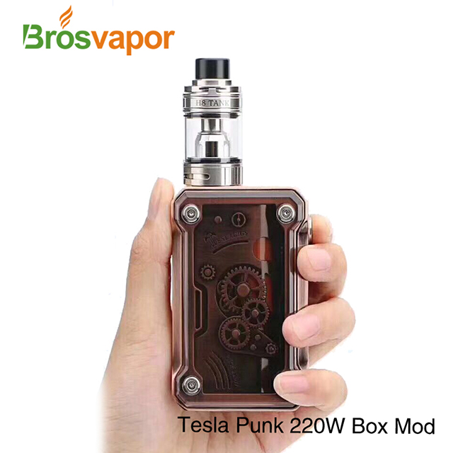 100% Original Dual 18650 Batteries 220W Mod Tesla Punk 220W Box Mod By Teslacigs Punk 220w