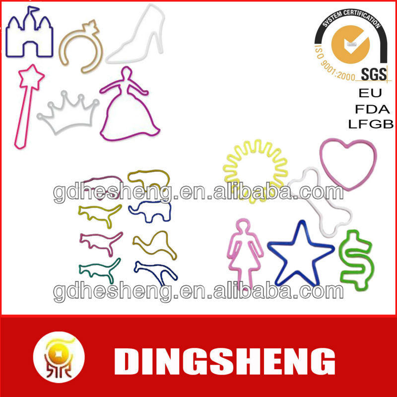Various Funny Shapes Silicone Rubber Band