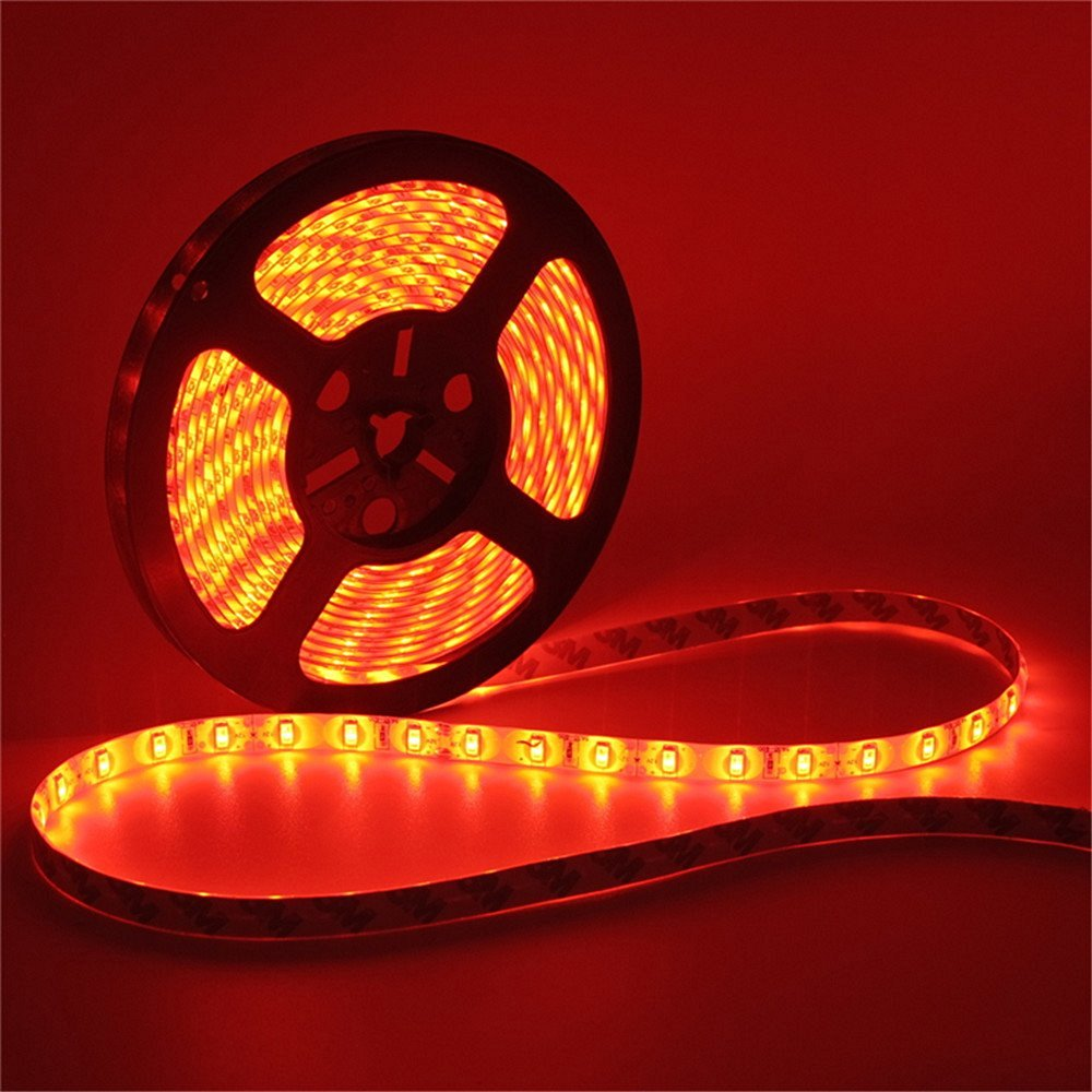 SuperonlineMall Led Strip Lights, trade; 5630 SMD 300LEDs Waterproof Flexible Indoor/Outdoor Xmas Decorative Lighting Strips, LED Tape, 5M 16.4Ft DC12V (Red)