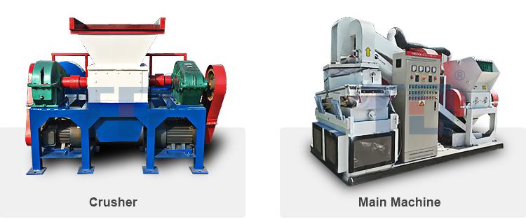 Automatische Afval Koperdraad Recycling Machine/schroot koperdraad hakken machine