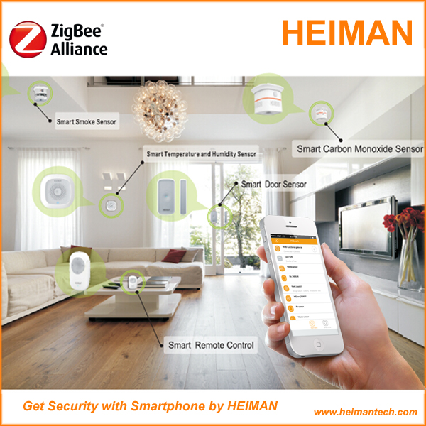 Heiman best selling diy iot smart home zigbee z wave for Define home automation