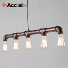 Individuality led light indoor iron pendant shanghai industrial products for bar counter