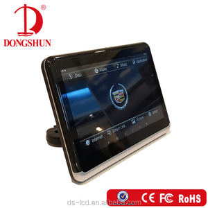 New design 10.1 inch Android 7.0 car headrest DVD and monitor player with USB,SD,HDMI slot