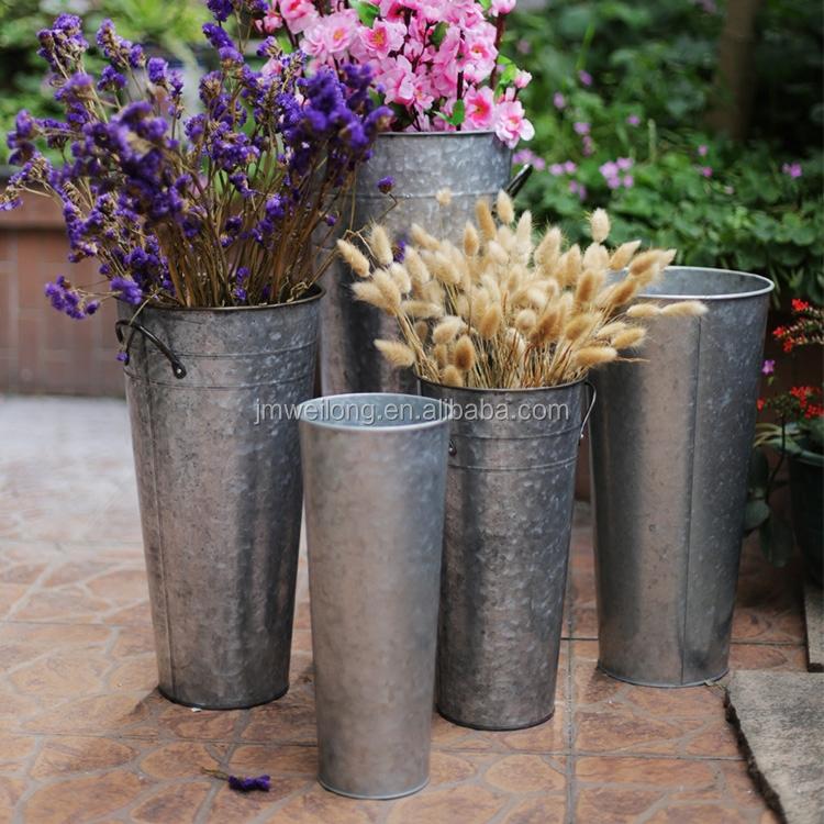 Galvanized Flower Bucket/flower Tub/flower Pots Wholesale - Buy ...