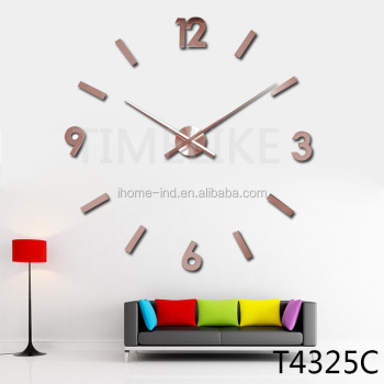 2016 decorate wall clock in copper color time clock wall mounted