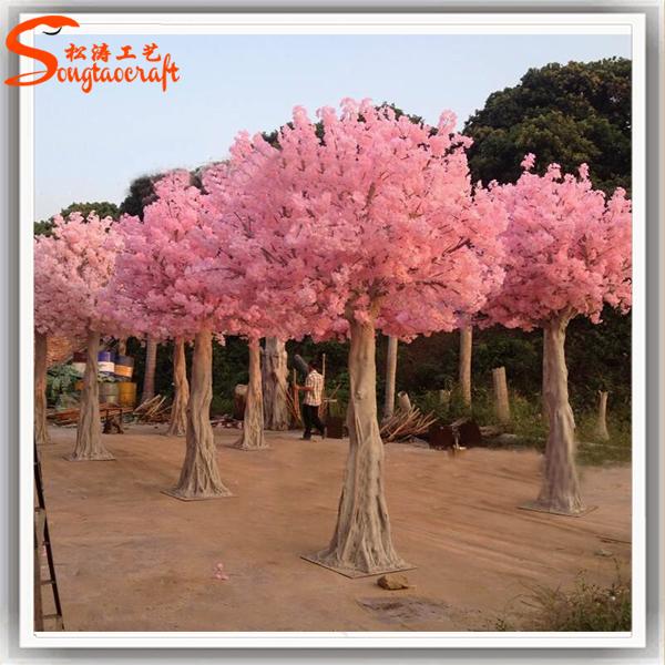 Plastic Japanese Led Cherry Blossom Tree Outdoor Lighted Cherry