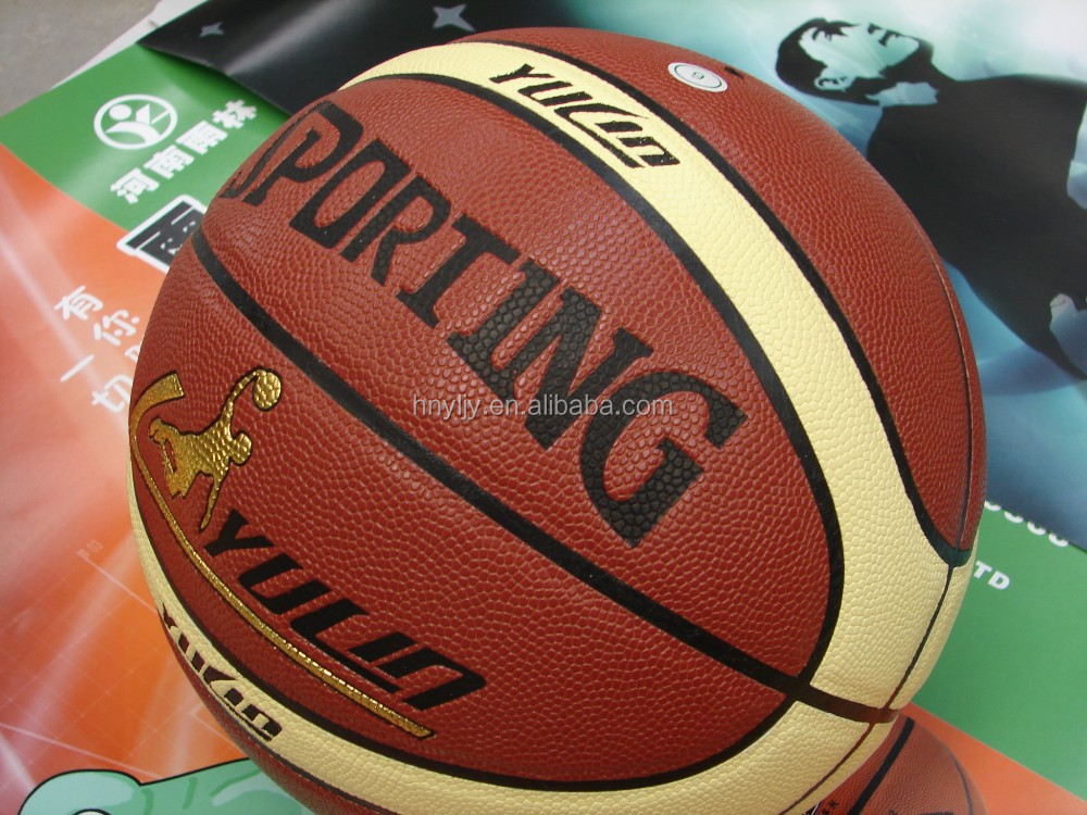 8 pannels Size 7 PVC leather laminated training basketball