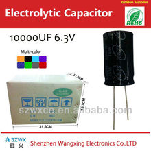Quick Delivery 6.3v Large Capacitors 10000uf Capacitance