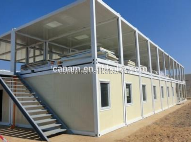 Beautiful new design container living house with plastic steel window