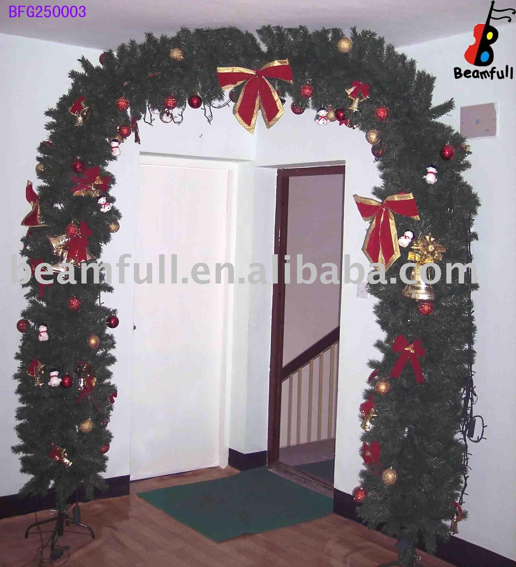 Puerta guirnalda de la navidad guirnalda de navidad - Adornos de navidad para la puerta ...