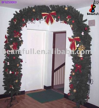 Puerta guirnalda de navidad decoraci n de navidad buy for Puertas decoradas con guirnaldas